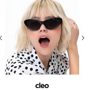 Diff Eyewear Cleo Black Cat Eye Sunglasses